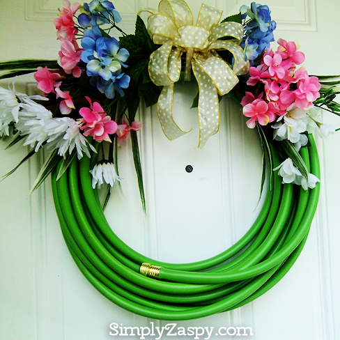 Summer Water Hose Wreath