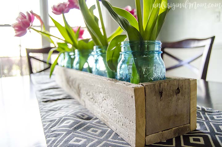 Wood Pallet Box Centerpiece