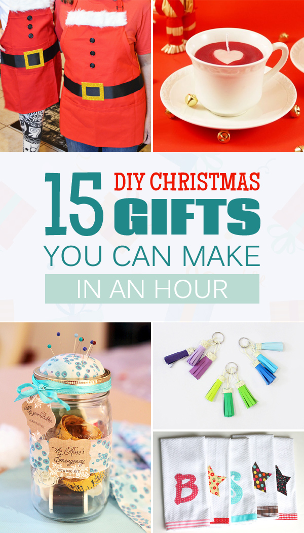 15 DIY Christmas Gifts You Can Make In An Hour