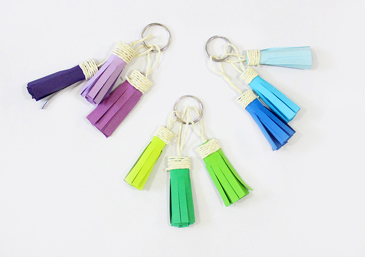 Ombre Tassel Keychains