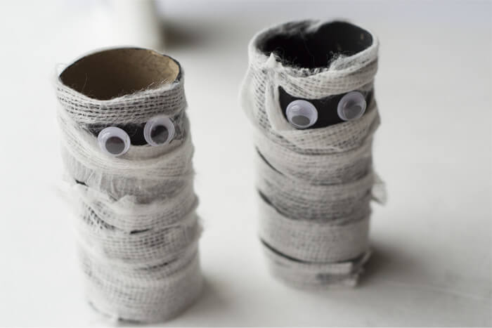 Toilet Paper Roll Mummies