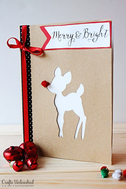 Merry and Bright Rudolph Card