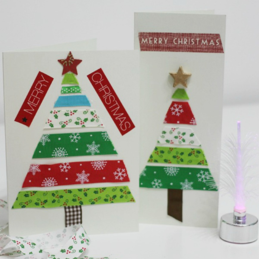Simple Ribbon Christmas Cards