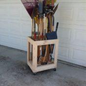Long Tool Organizer Cart