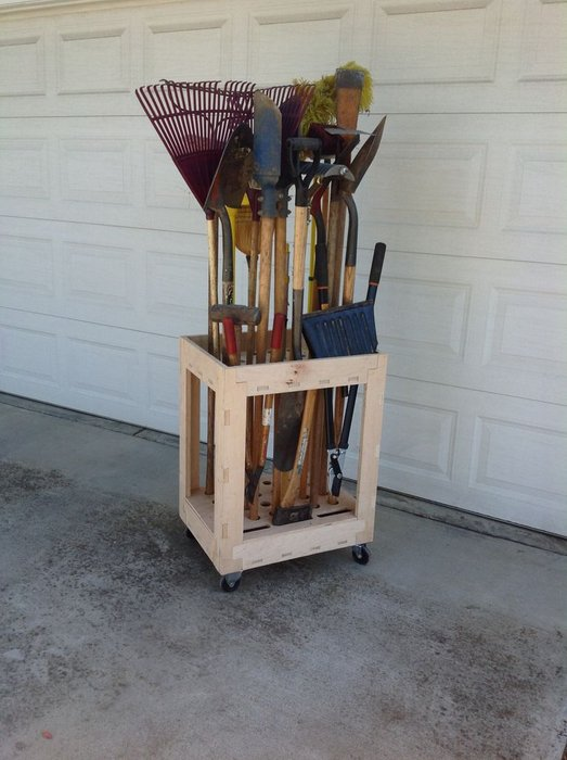 Long Tool Organizer Cart