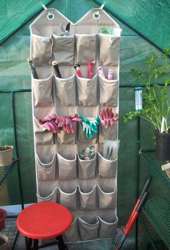 Reuse an Old Shoe Organizer to Store Small Gardening Tools