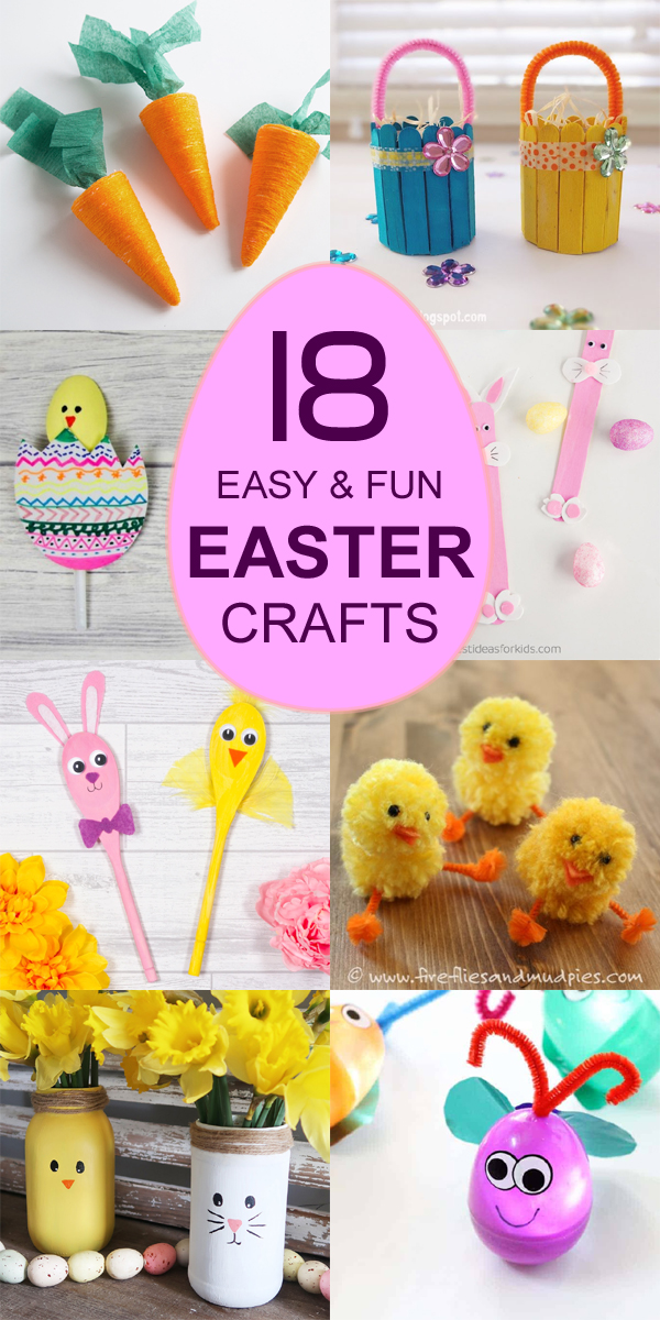 18 Easy And Fun DIY Easter Crafts