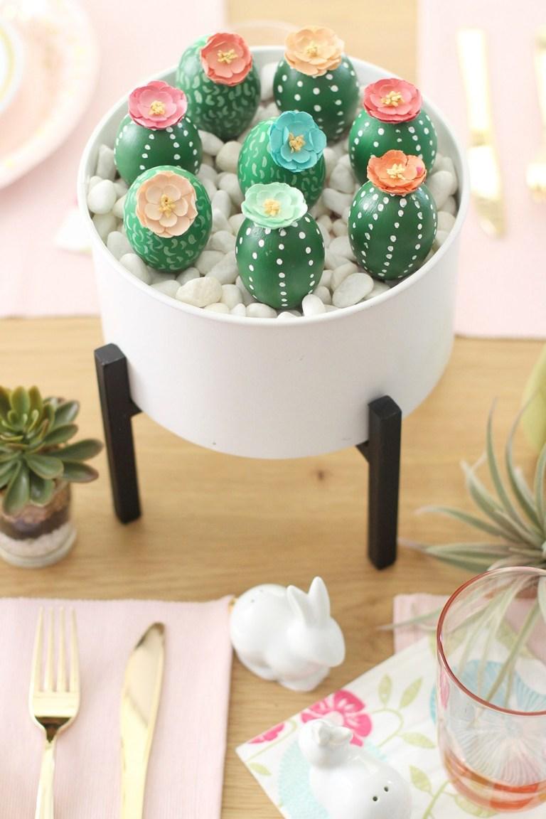 Cactus Easter Egg Centerpiece