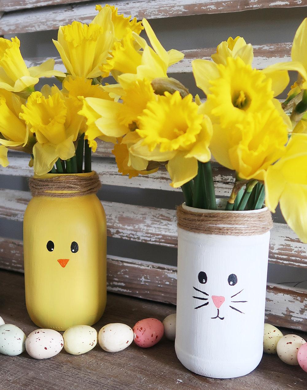Easter Mason Jar Vases