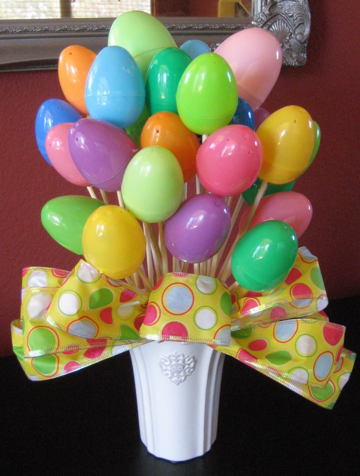 Flower Bouquet of Plastic Easter Eggs