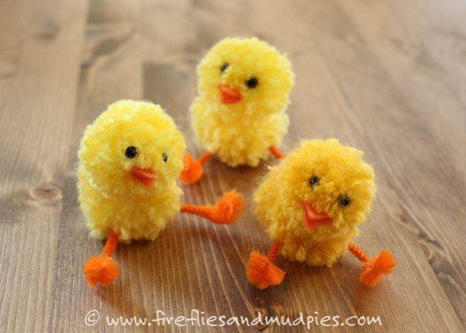 Simple Pom Pom Chicks