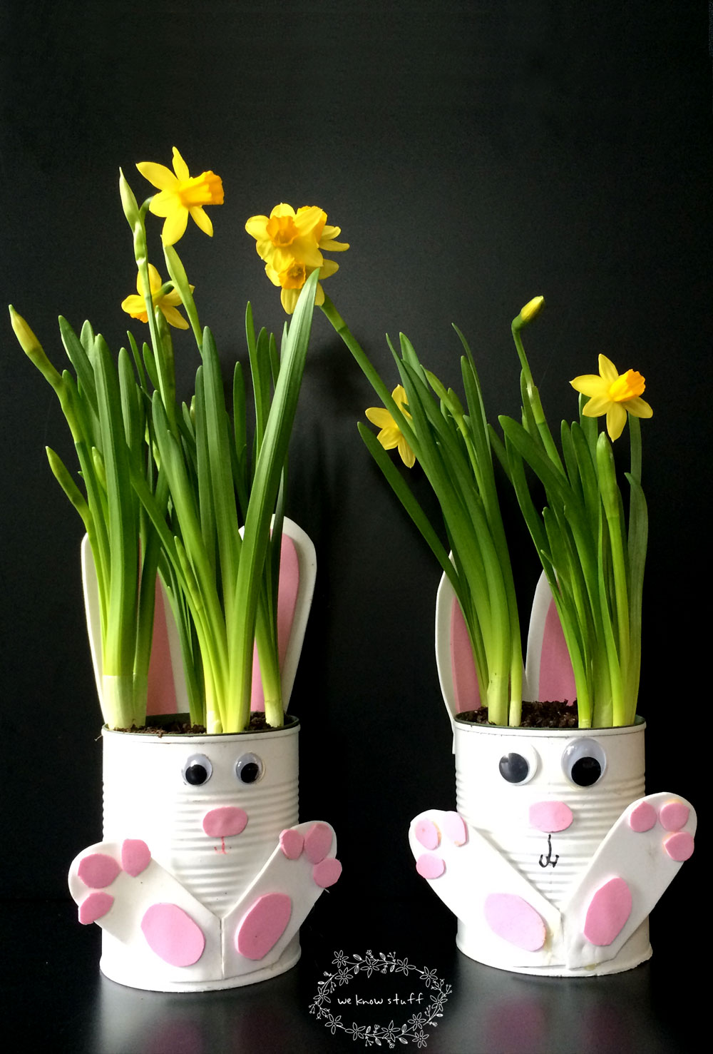 Tin Can Bunny Planters