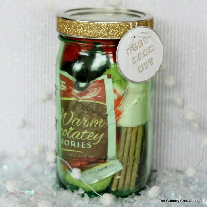 Keep Warm Kit Gift in a Jar