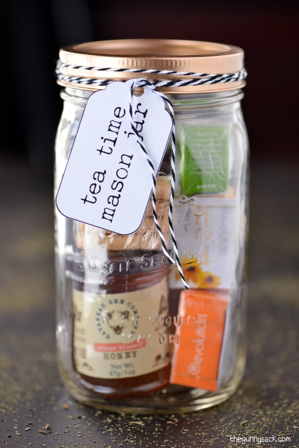 Tea Time Mason Jar