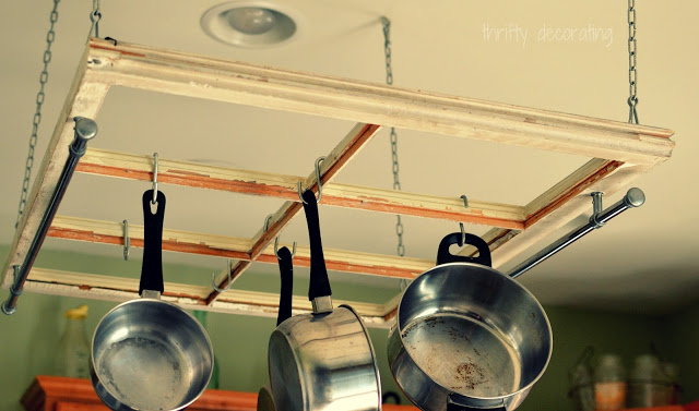 From Old Window to Pot Rack