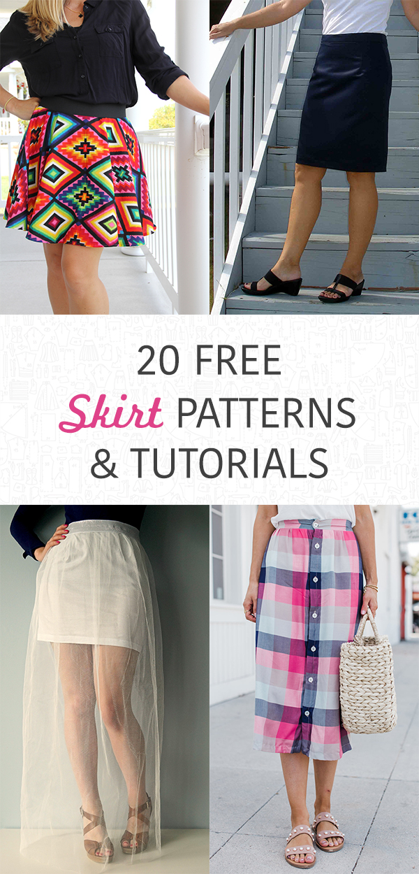 20 Free Skirt Patterns and Tutorials