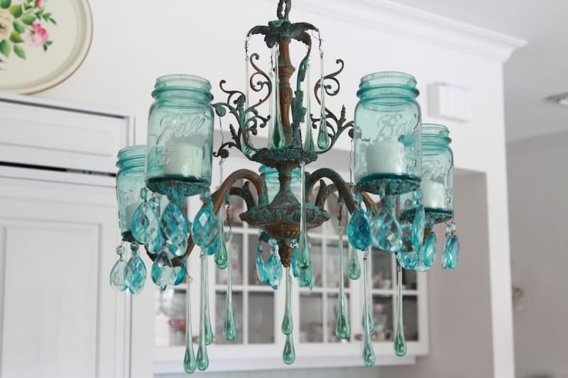 Farmhouse Mason Jar Chandelier
