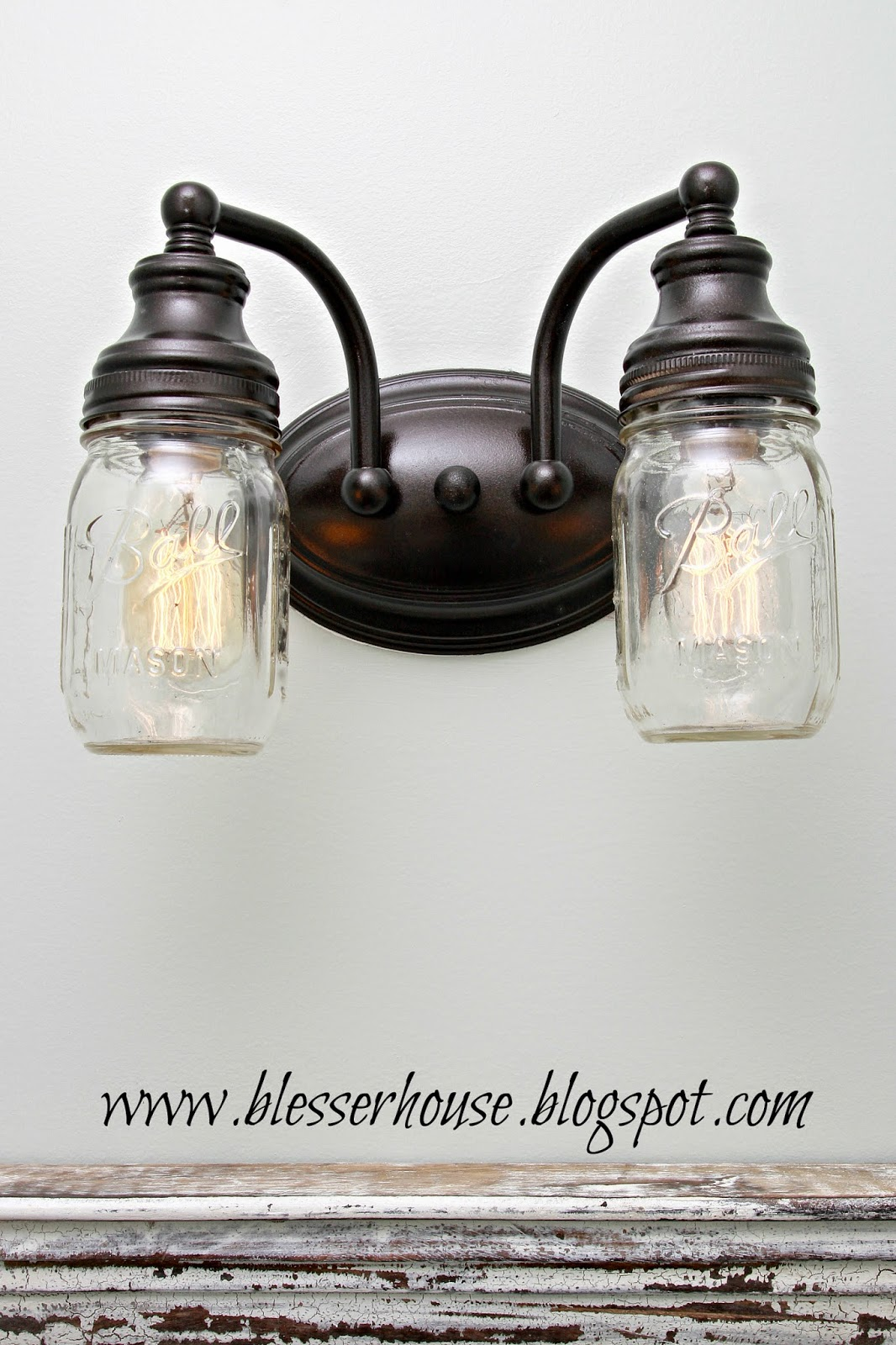 Mason Jar Vanity Light