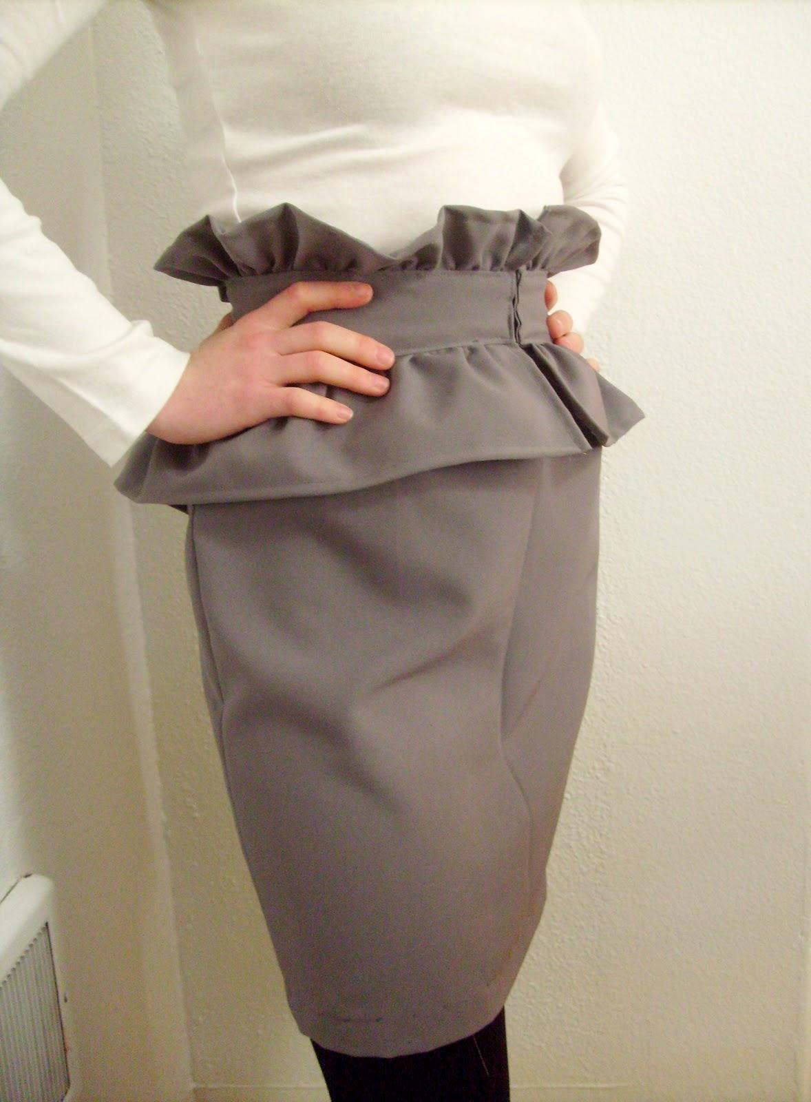 Ruffled Peplum Skirt
