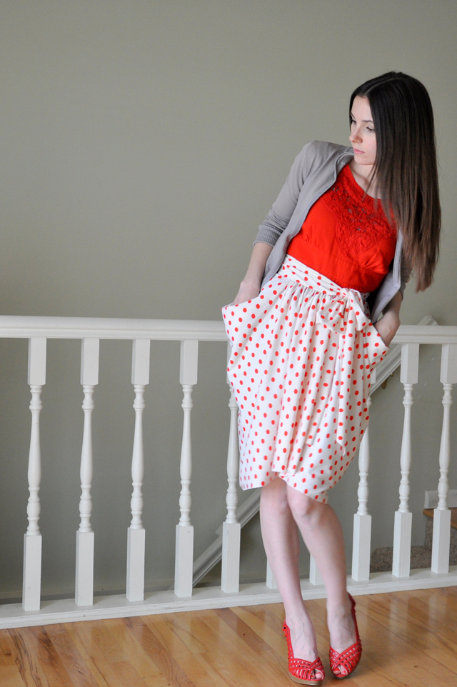 The Gathered Drape Skirt with Pockets