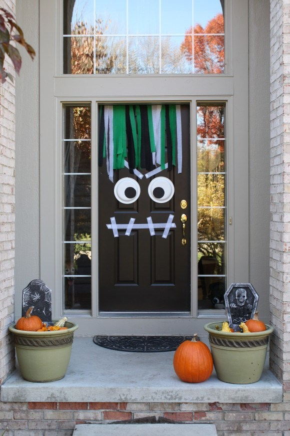 Monster Halloween Front Door Decor