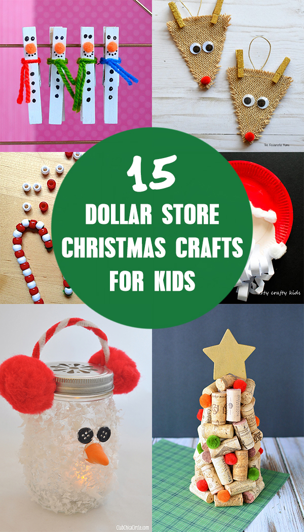 15 Dollar Store Christmas Crafts for Kids