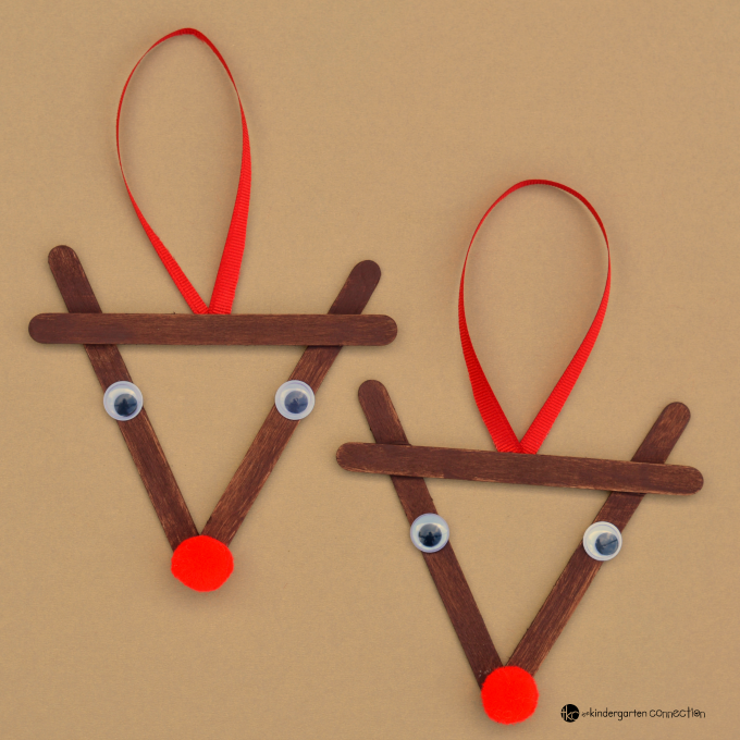 Popsicle Stick Reindeers