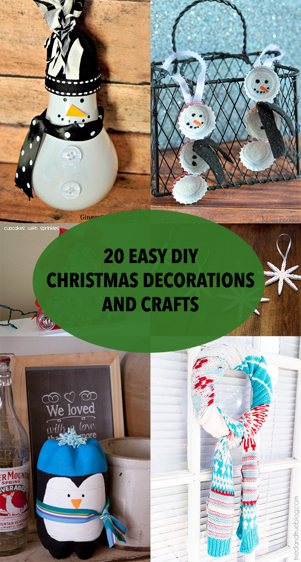 20 Easy DIY Christmas Decorations and Crafts