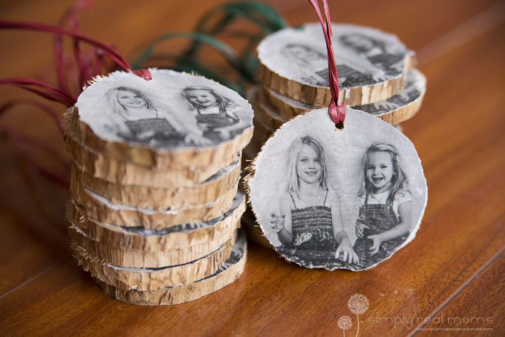 Wooden Christmas Photo Ornaments