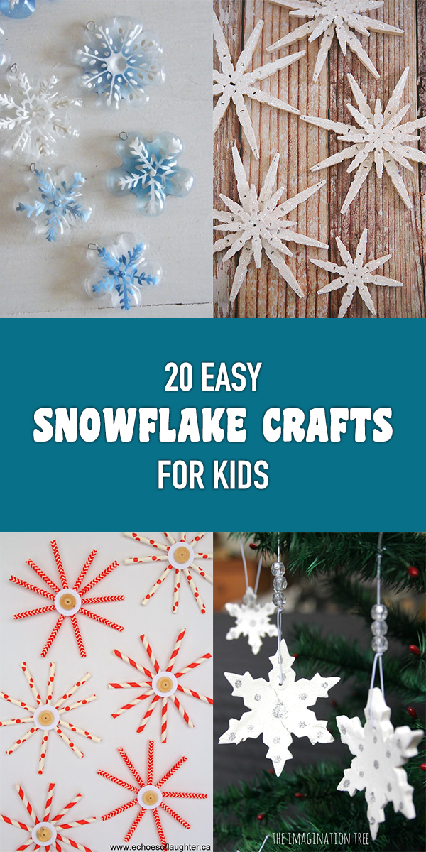 20 Easy Snowflake Crafts for Kids to make this Winter