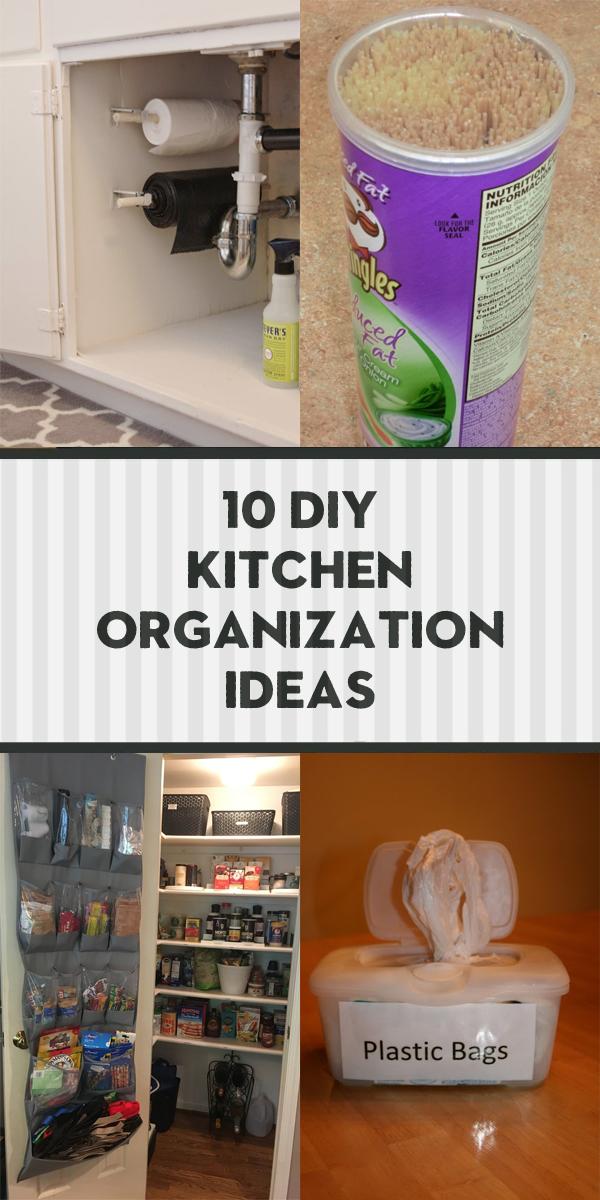 10 DIY Kitchen Organization Ideas