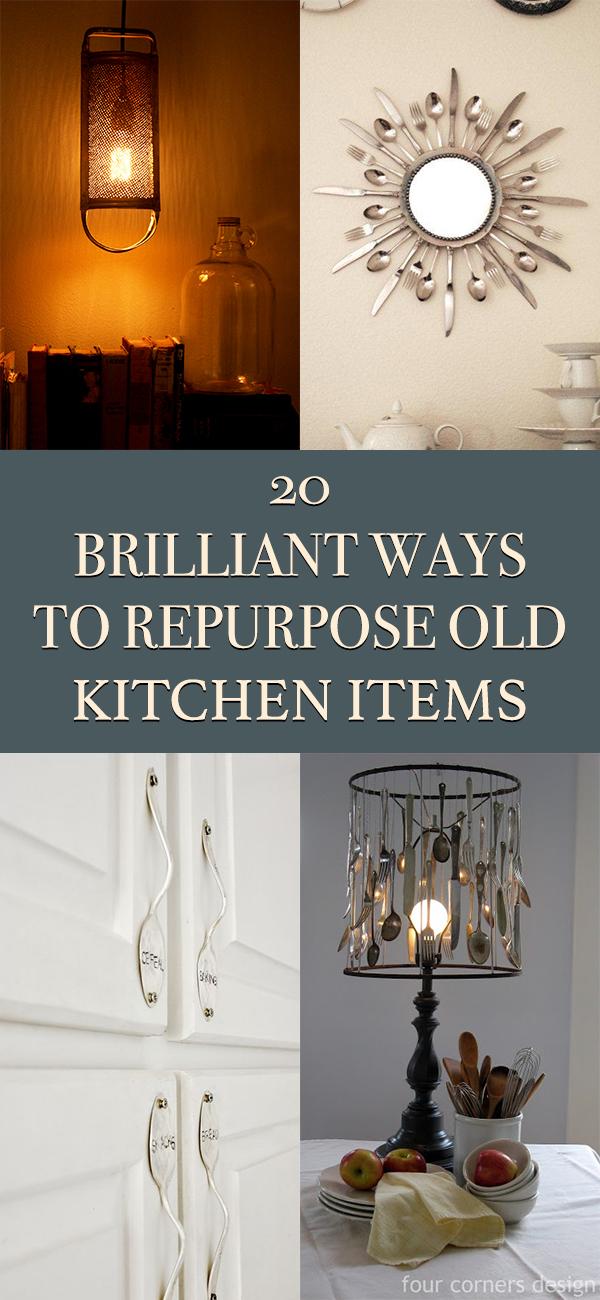 20 Brilliant Ways To Repurpose Old Kitchen Items