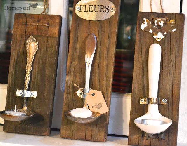 Rustic Ladle Tealight Holders