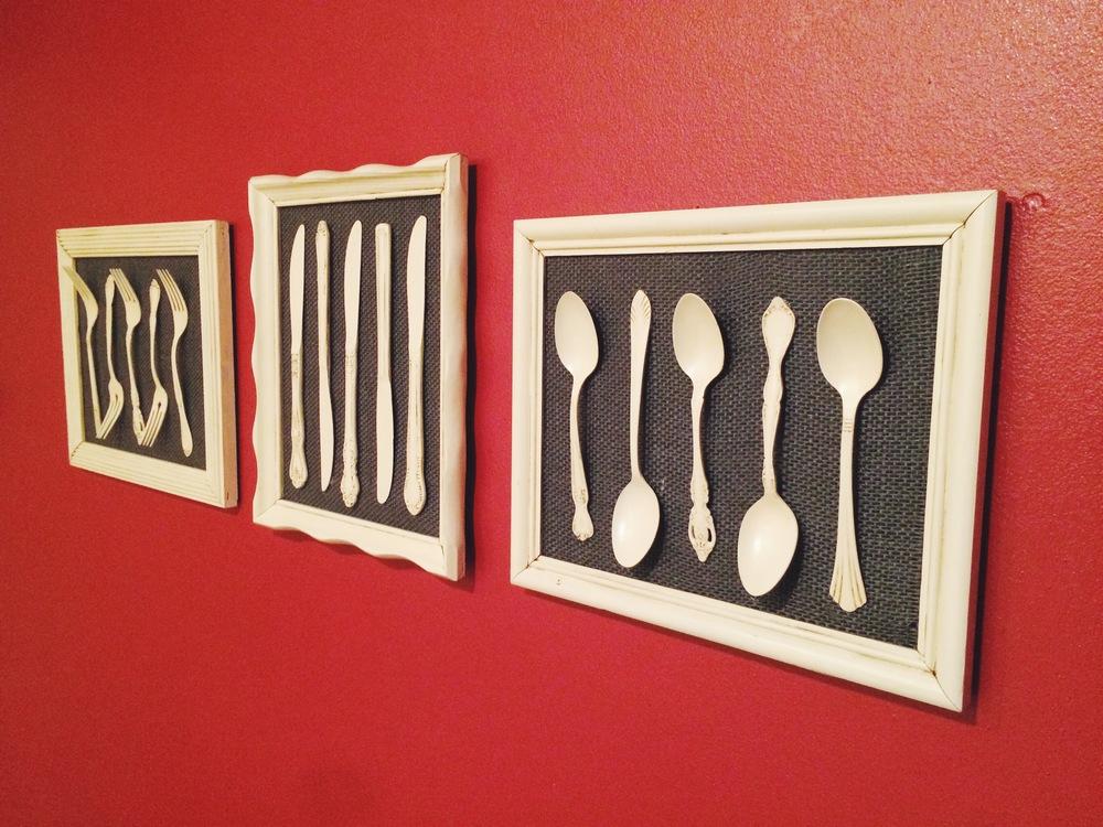 silverware kitchen art