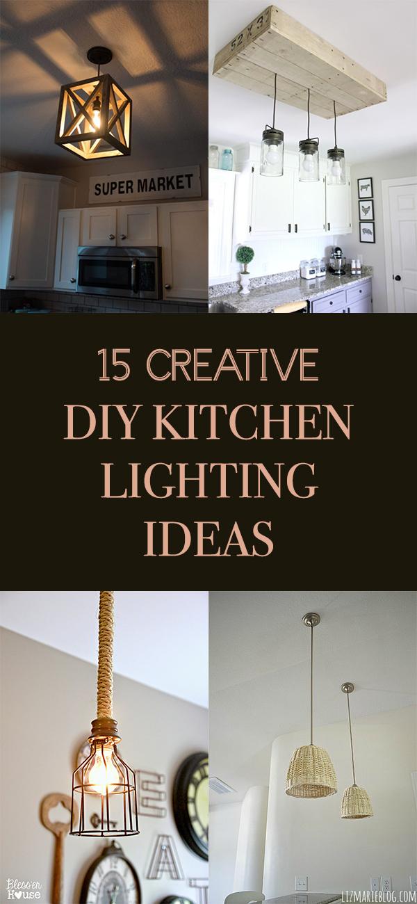 15 Creative DIY Kitchen Lighting Ideas
