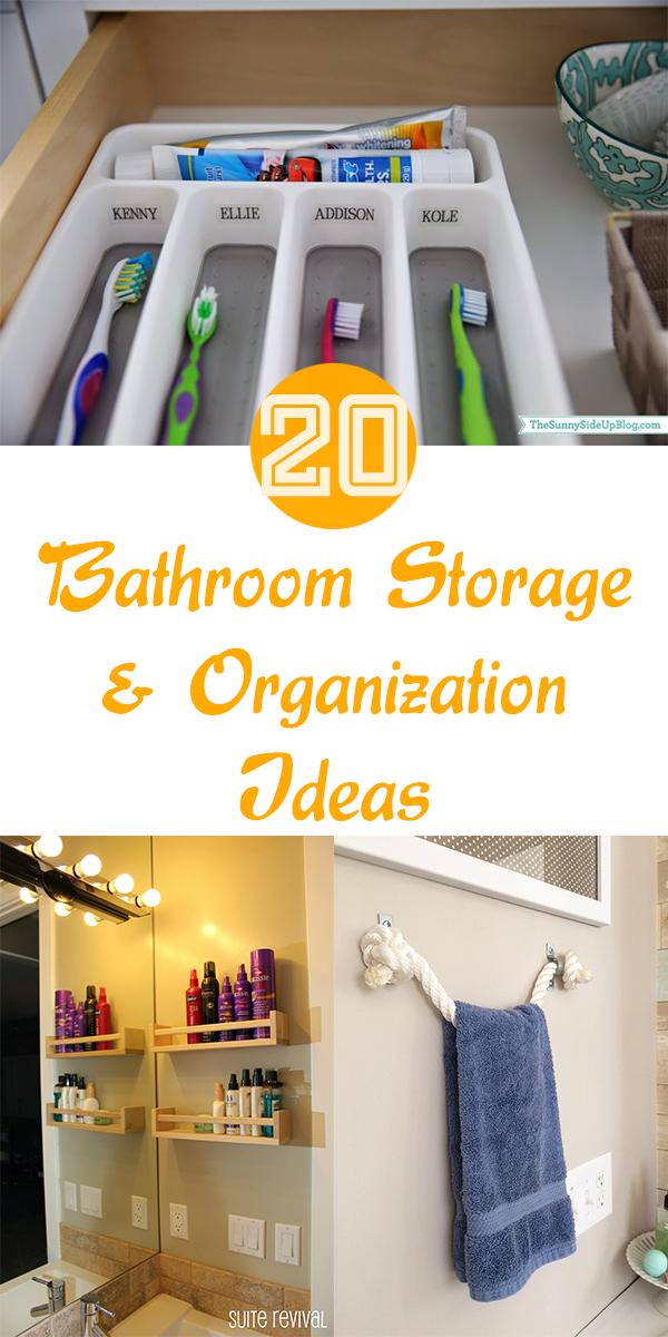 20 Bathroom Storage and Organization Ideas