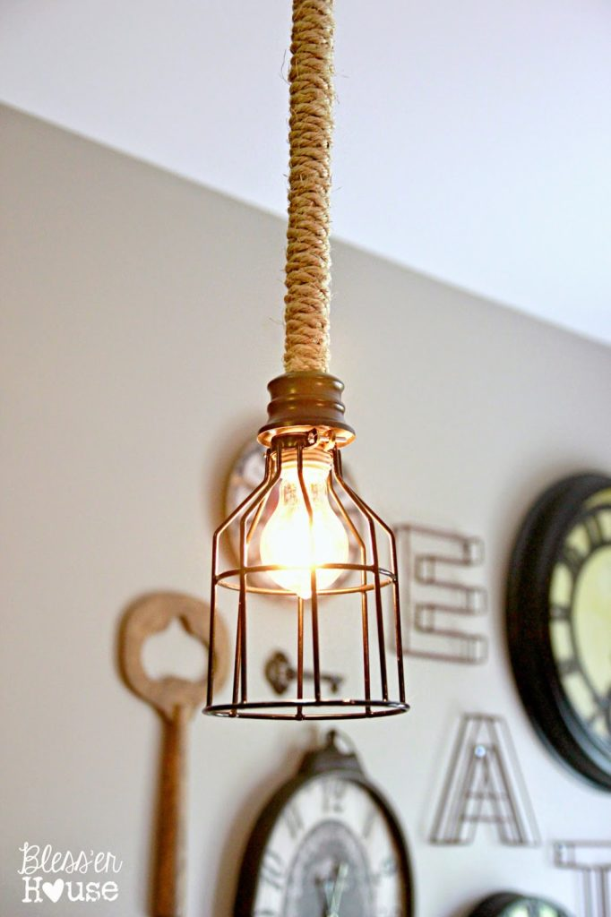 Industrial Rope Pendant Light