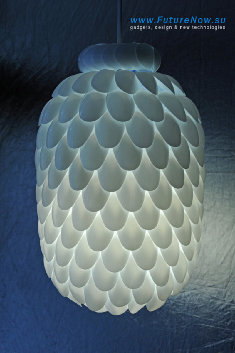 Plastic Spoon Pendant Light