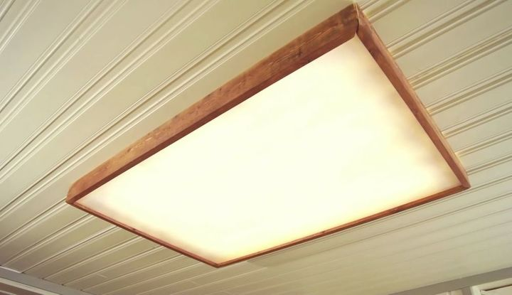 Reclaimed Wood Box Lamp