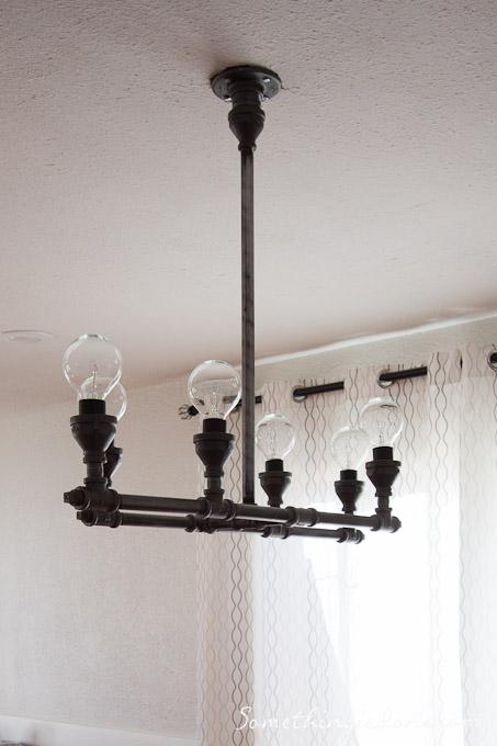 Steel Pipe Light Fixture