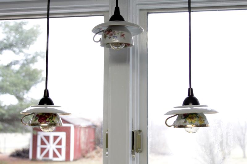 Teacup Pendant Light