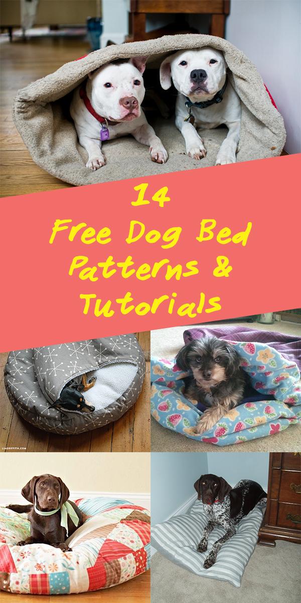 14 Free Dog Bed Patterns Tutorials