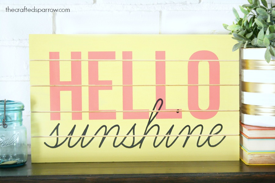 Slatted Summer Sign
