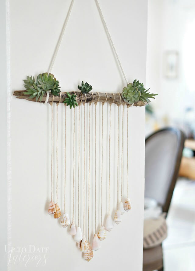 Modern Seashell Wall Hanging