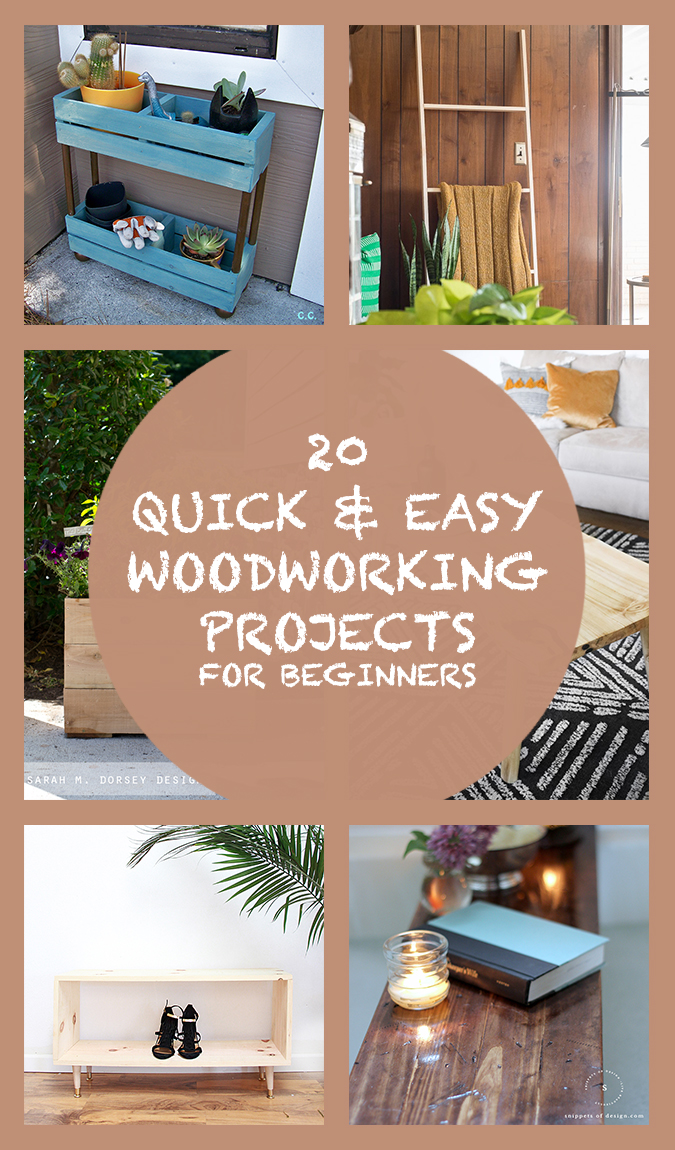 20 Quick & Easy Woodworking Projects For Beginners